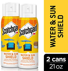 Scotchgard Water & Sun Shield with UV Protector 2 Cans, 10.5-Ounces (21 Ounces Total)