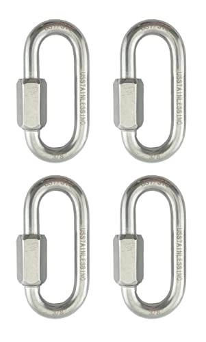 3//8 inch Pack of 4 BNYZWOT 304 Stainless Steel Quick Links D Shape Locking Quick Chain Repair Links M10