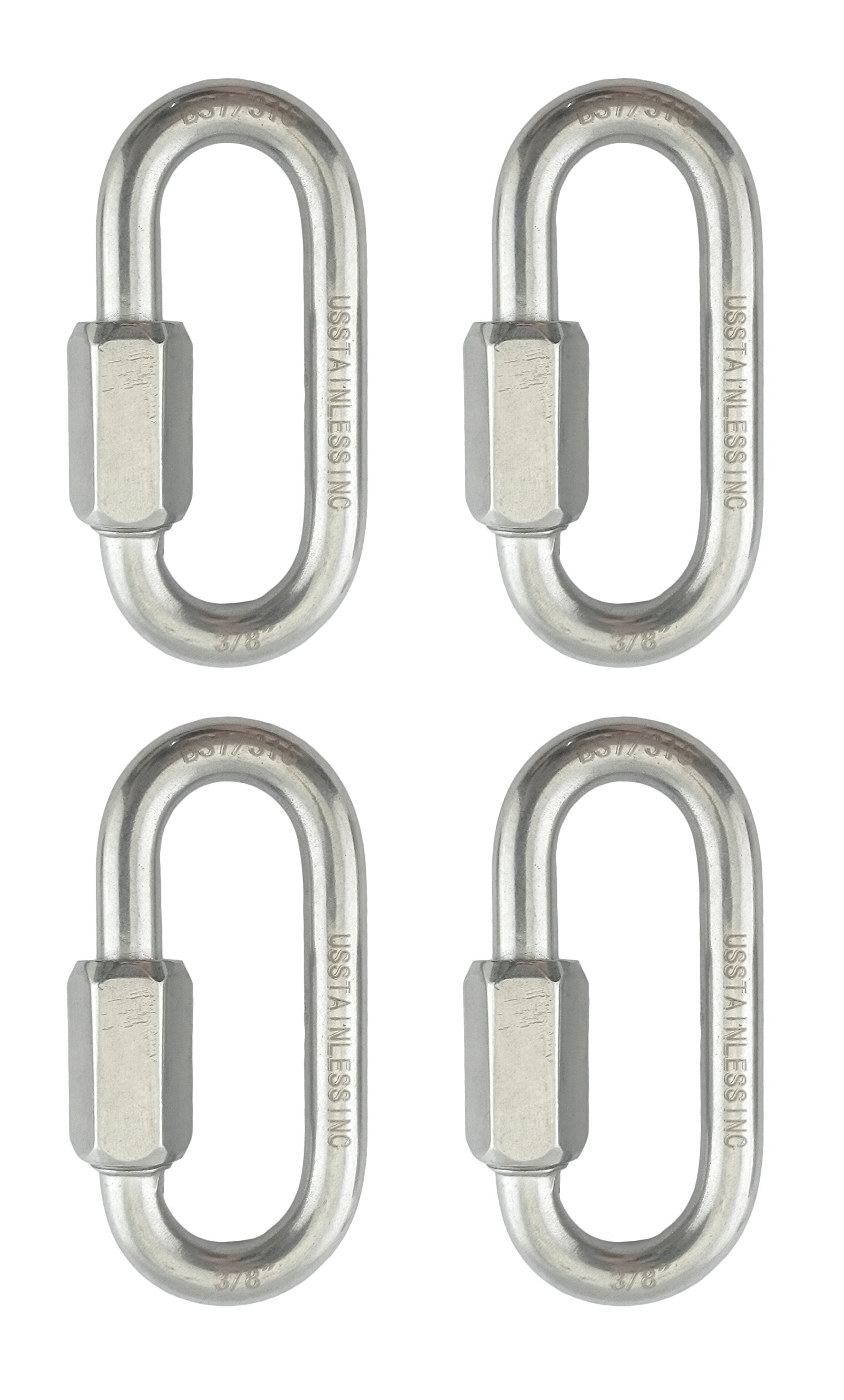 4 Pieces Stainless Steel 316 Quick Link 3/8'' (10mm) Marine Grade