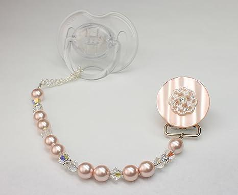 Cristal sueño elegante rosa Cristales de Swarovski y perlas ...