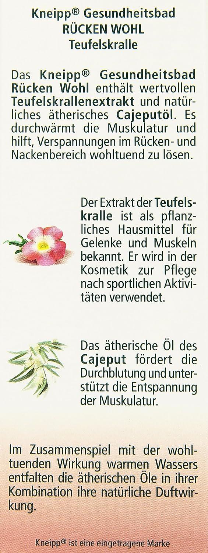 Kneipp Gesundheitsbad Rücken Wohl Teufelskralle, 100 ml: Amazon.de ...