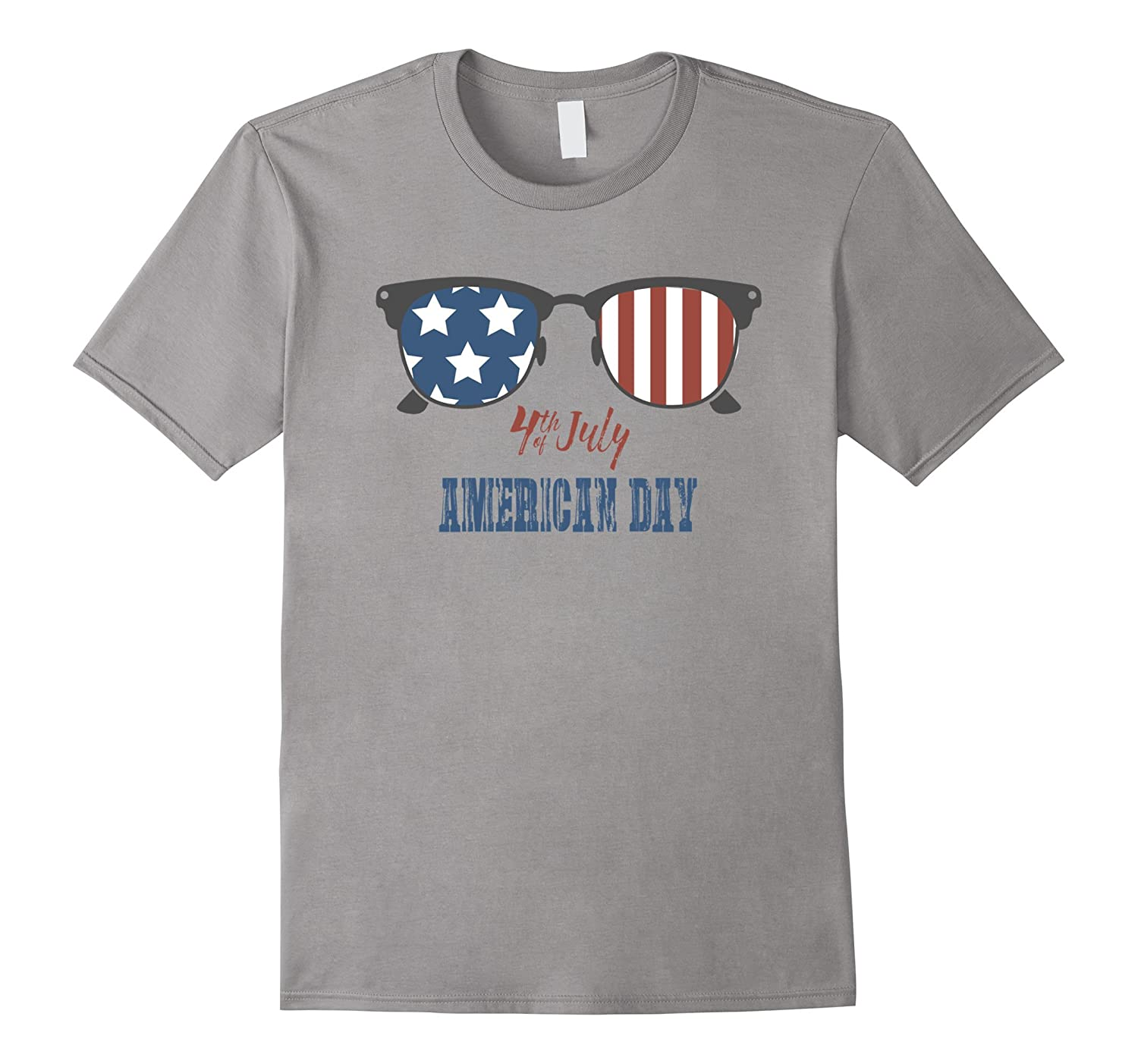 Happy American Day 4th of July Glasses With US Flag T-Shirt-Art
