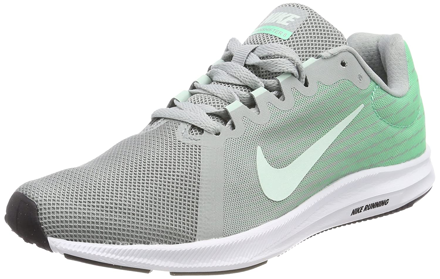 NIKE Women's Downshifter 8 Running Shoe B0761XRZWL 8 B(M) US|Light Pumice/Igloo/Green Glow/White