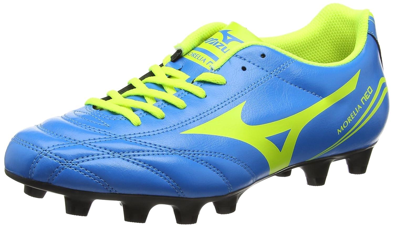 Mizuno Herren Morelia Neo CL MD Fuszlig;ballschuhe  44.5 EU|Blau (Diva Blue/Safety Yellow)