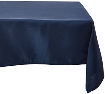 LinenTablecloth 60 X 102 Inch Rectangular Polyester Tablecloth Navy Blue