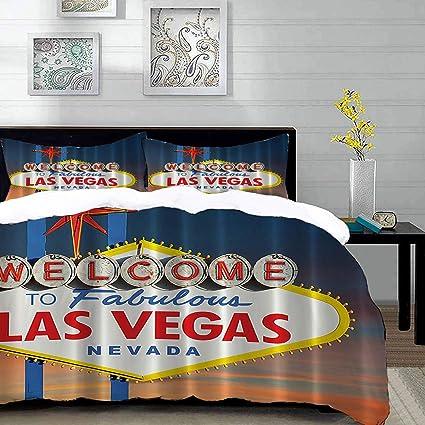 Parure De Lit Adulte Housse De Couette Bienvenue Chez Fabulous Las Vegas Nevada Signe Photo Voyageur