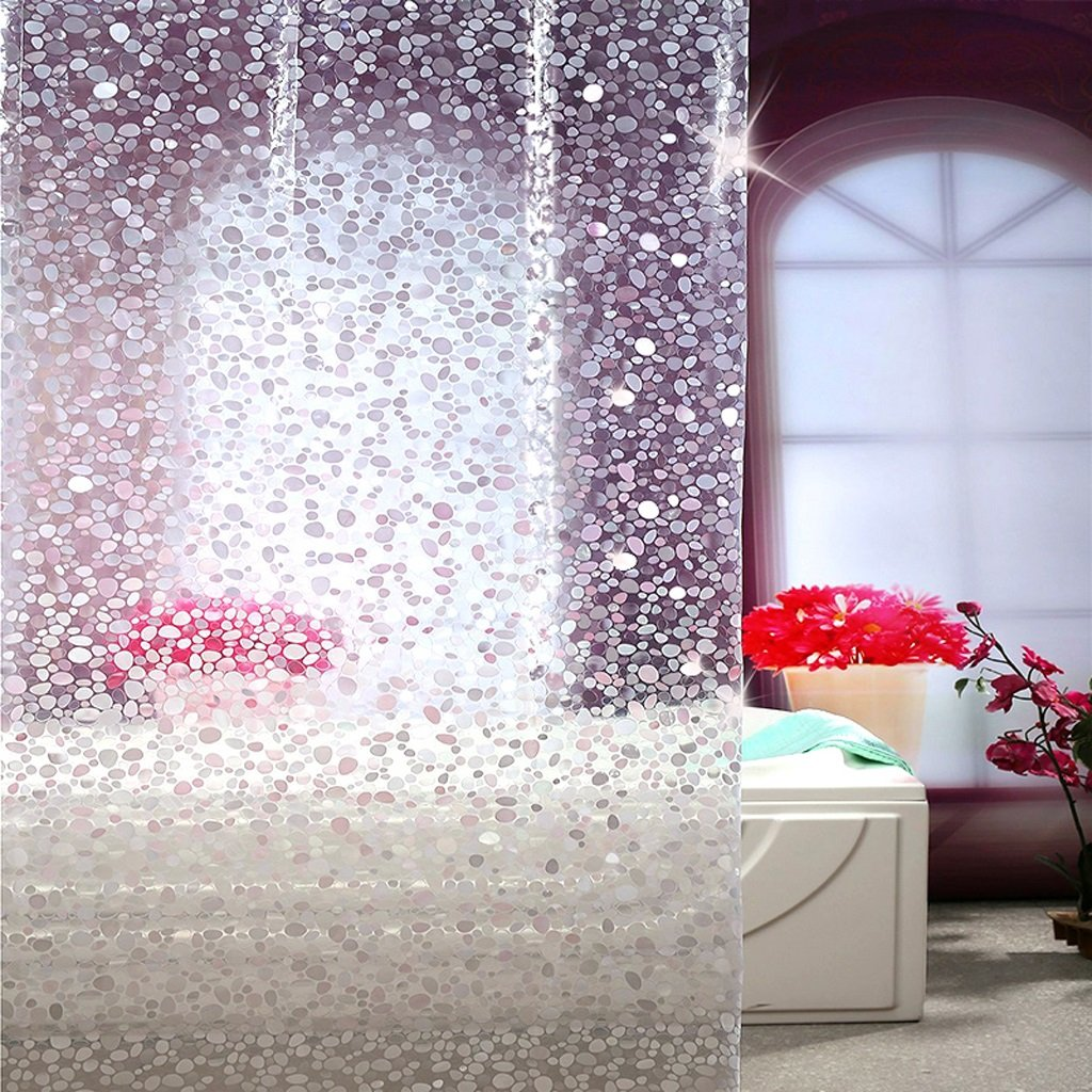 Curtain Scrub Shower Curtain, Partition Wall Insulation Curtain, Waterproof Mildew, Thickening Shower Curtain Shower Equipment (Size : 200180cm)
