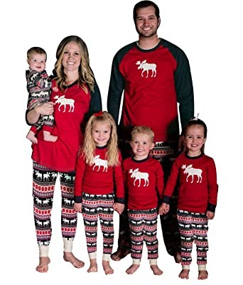 Imixshop Christmas Family Elk Matching Sleepwear Deer Pajamas Set ...