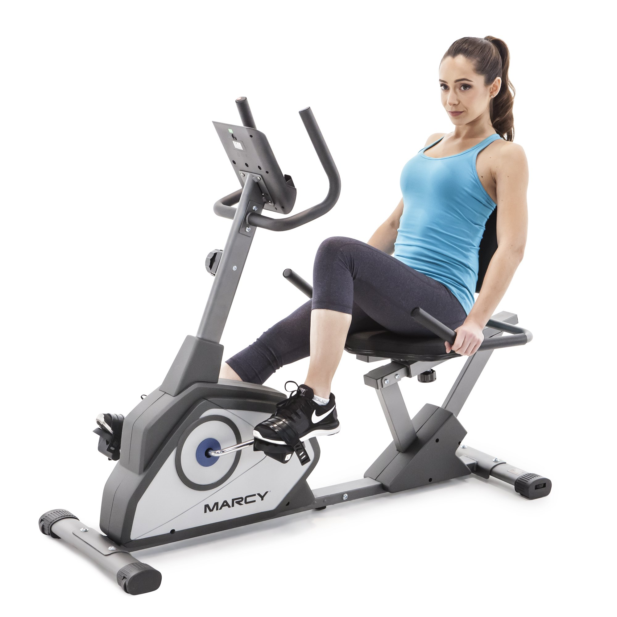 Marcy Magnetic Recumbent Exercise Bike with 8 Resistance Levels NS-40502R by Marcy (Image #1)