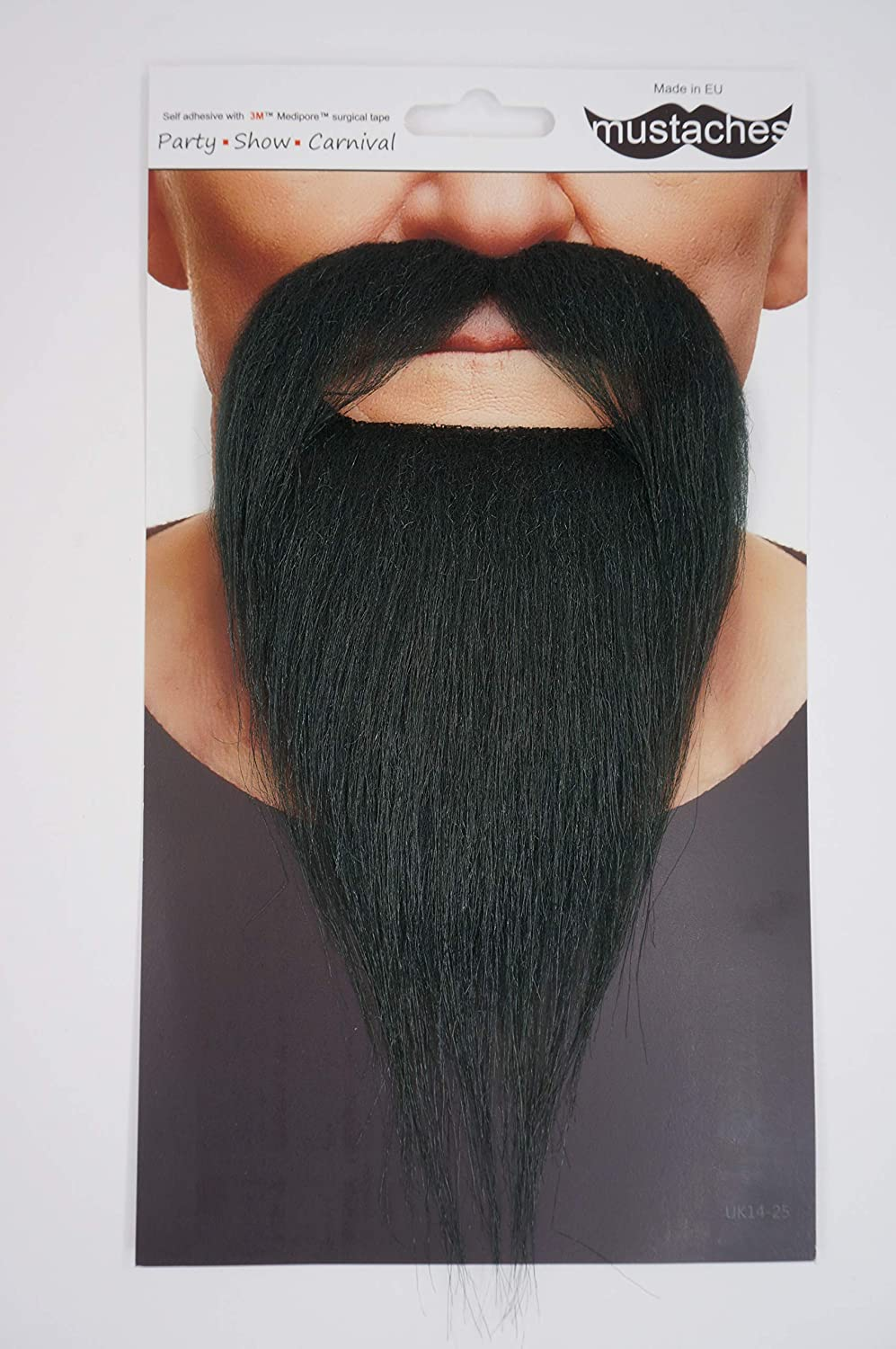 Costume Accessory for Adults Ducktail Fake Beard Novelty False Facial Hair Mustaches Self Adhesive