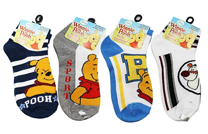 Disneys Winnie the Pooh Assorted Color/Character Kids Socks (3 Pairs, ...