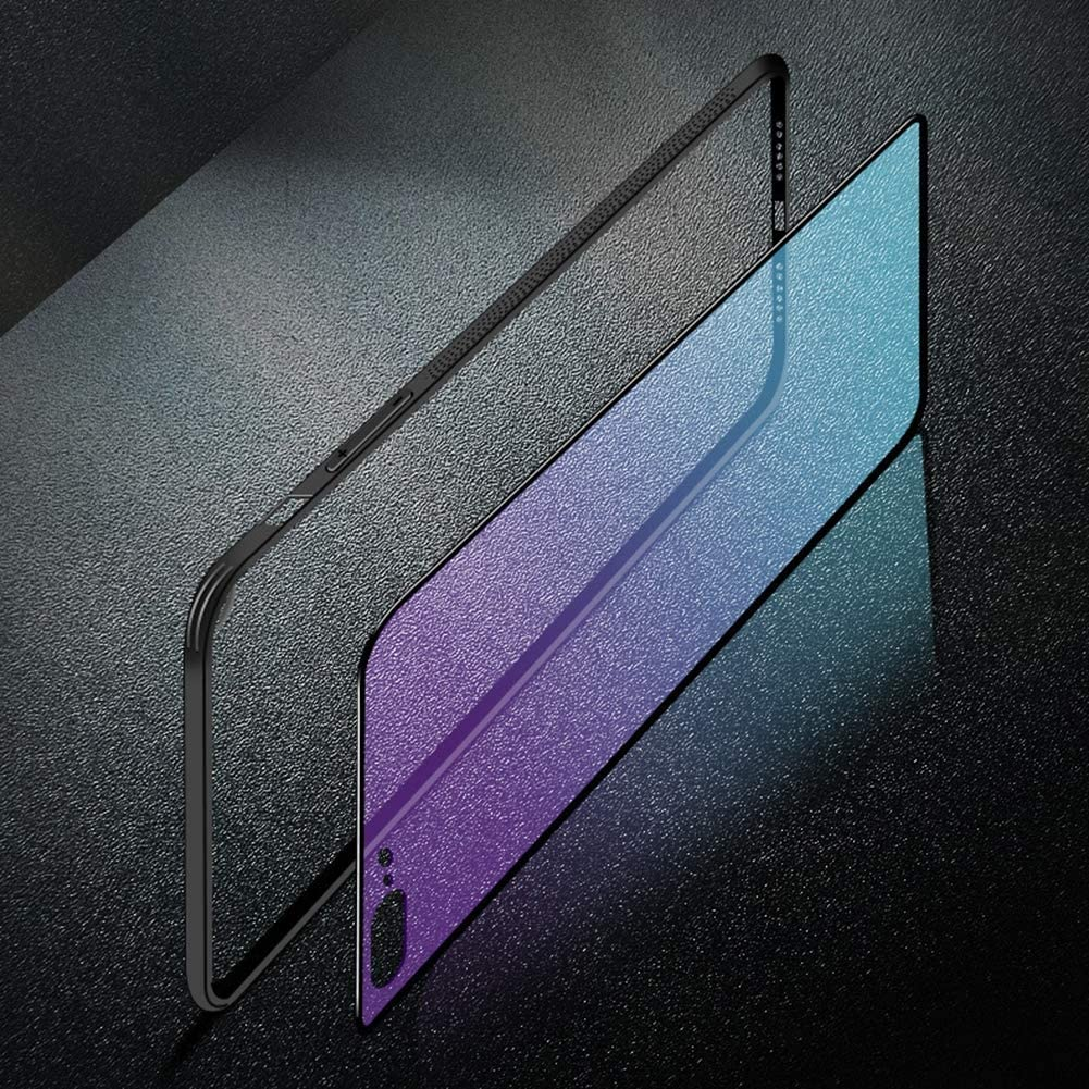 OWEM Estuche para iPhone de Apple XR/XS/XS MAX/X / 8 / 8p / 7 / 7p, TPU Suave Anti-caída Cambio de Color Templado Vidrio Trasero Protector Duradero Cubierta de la Caja,Starriver,iPhoneXsmax: Amazon.es: