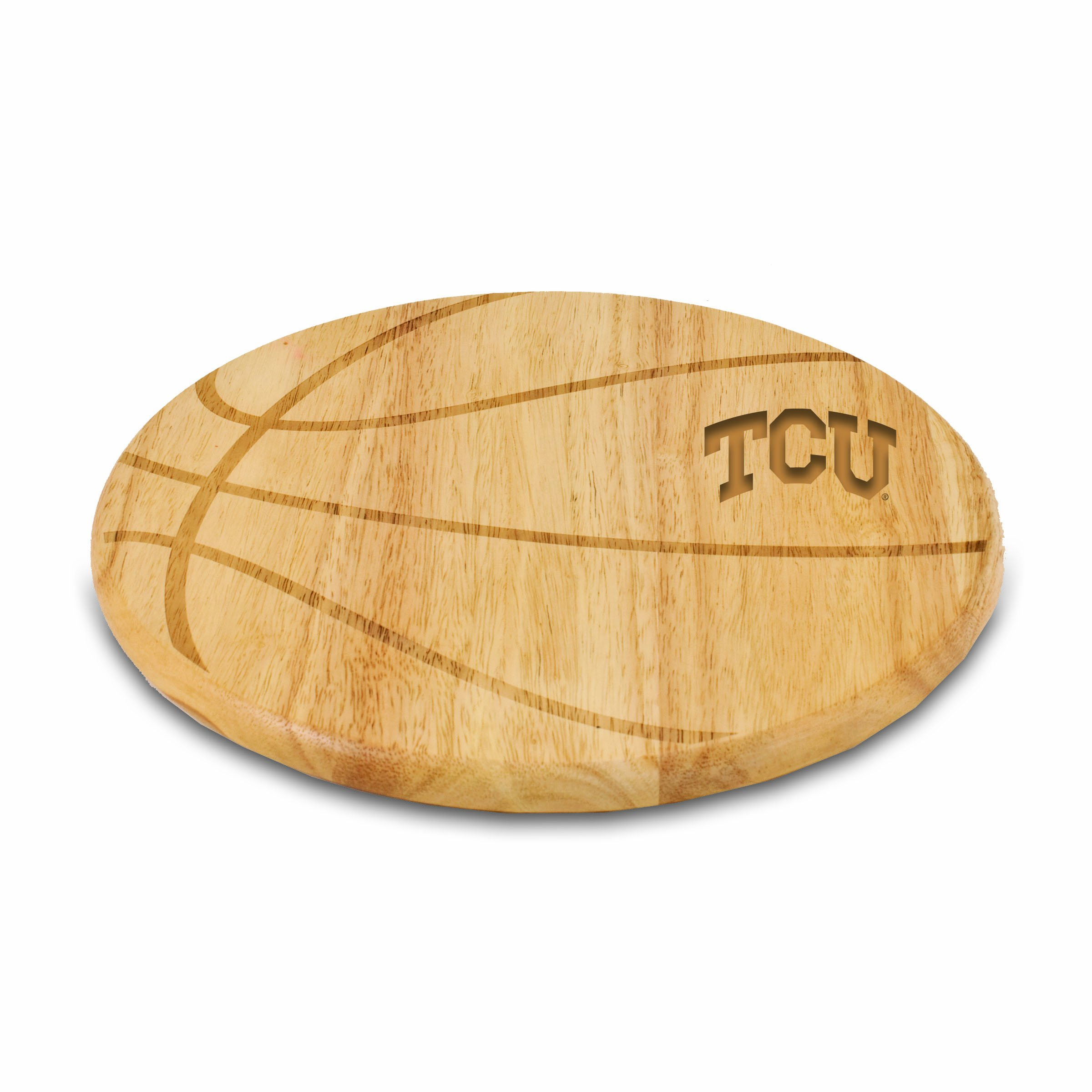 PICNIC TIME NCAA Texas Christian Horned Frogs Free Throw 12-1/2-Inch Cutting Board