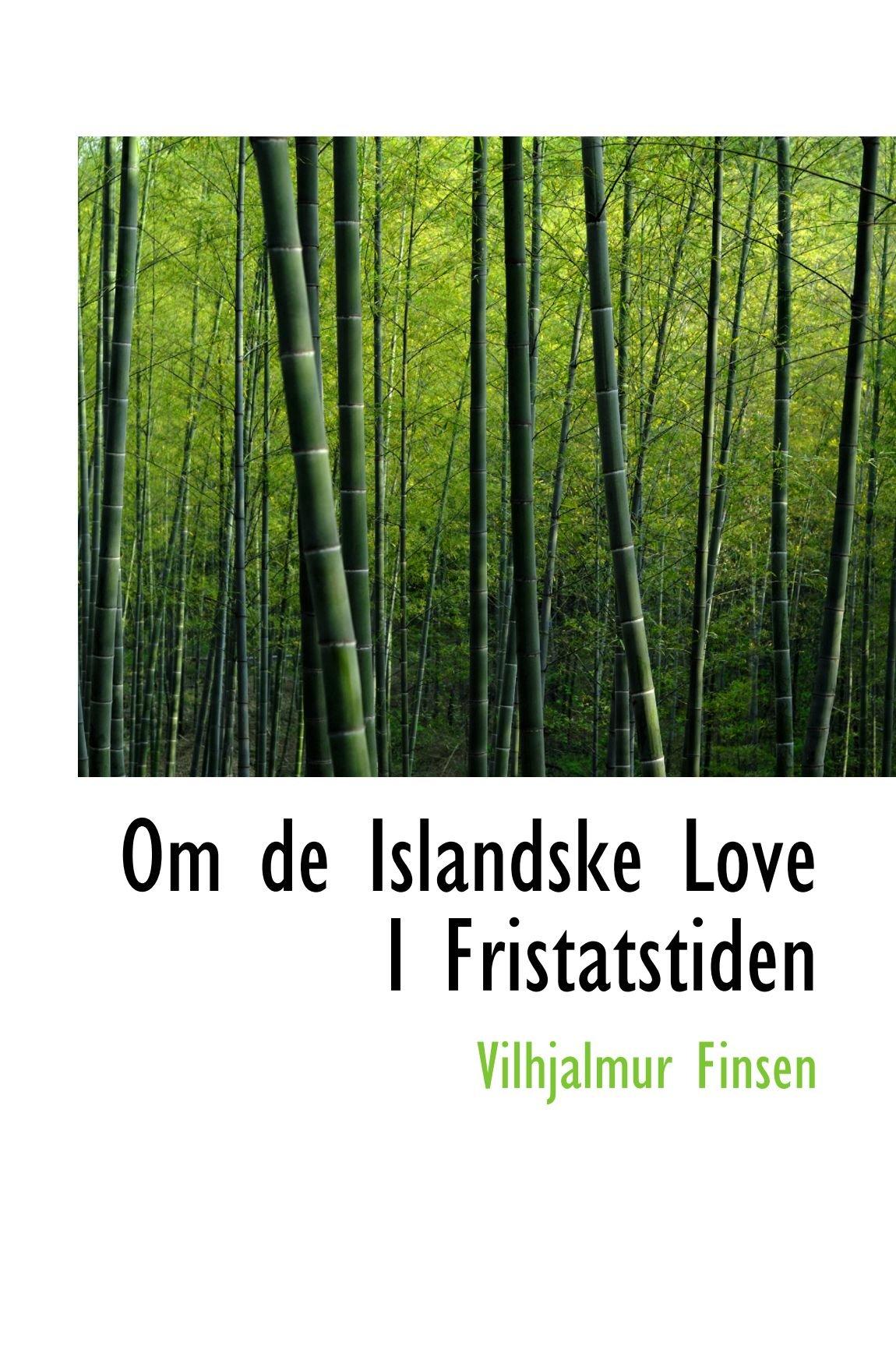 Download Om de Islandske Love I Fristatstiden ebook