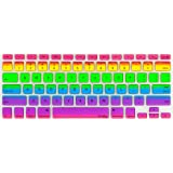 """Kuzy Rainbow Keyboard Cover Silicone Skin for MacBook Pro 13"""" 15"""" 17"""" (with or w/out Retina Display) iMac and MacBook Air 13"""" - Rainbow"""