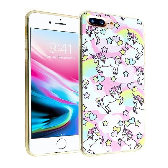 new products 90a94 f4cb4 Unicorn iPhone 8 Plus Case, iPhone 7 Plus Case, IMAGITOUCH Anti-Scratch  Shock Proof Slim Fit Flexible TPU Case Bumper Cover for iphone 8 Plus / 7  plus ...
