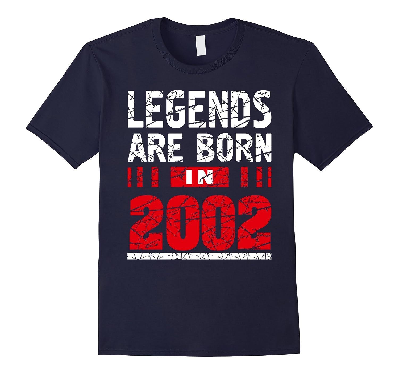 Legends Born In 2002 Tshirt 15 Years Old Birthday Gift Idea-Vaci