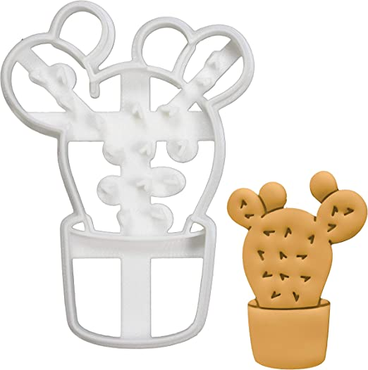 Biscuit Fondant Cutter Cactus Plant Cookie Cutter set of 2 Pastry