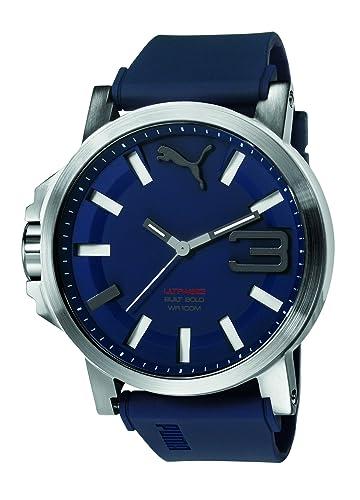 767119f0d Puma Ultrasize 50 Bold - Reloj análogico de cuarzo con correa de silicona para  hombre