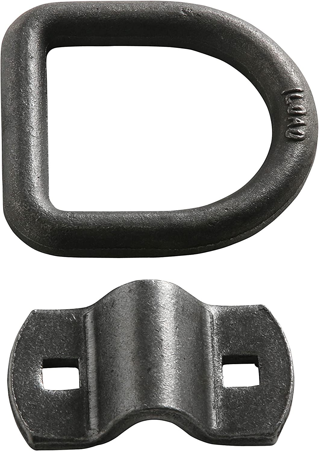 with Bolt-on Mounting Bracket Clip DC Cargo Mall 10-Pack 1//2 Diameter Grey D Ring Cargo Tie-Down Anchor for Truck Beds and Trailers