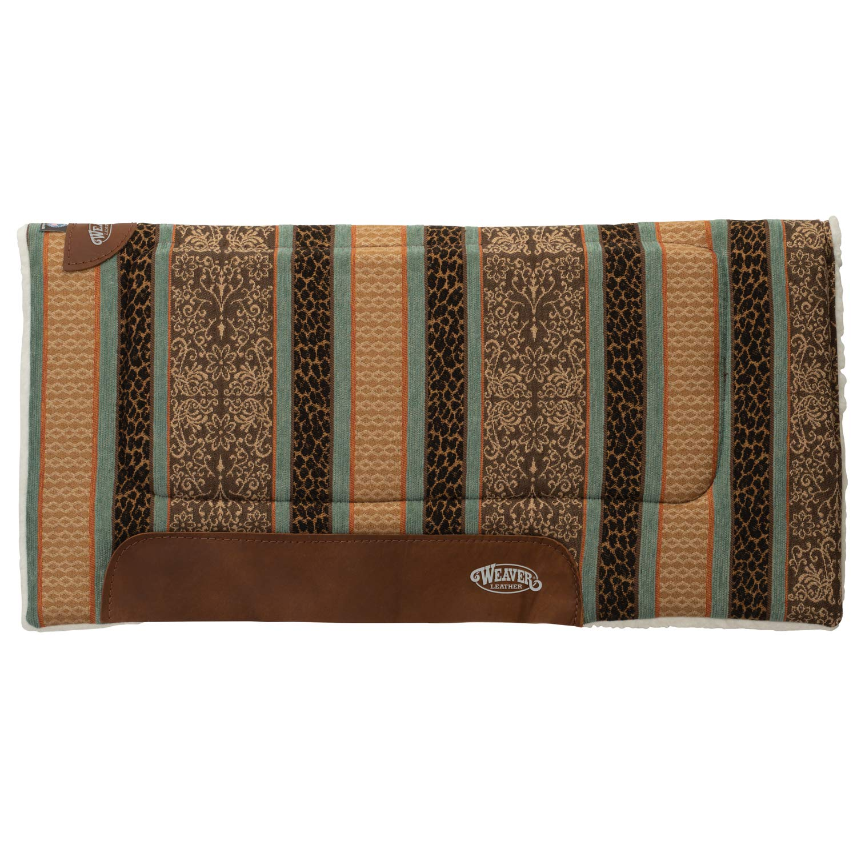 Weaver Leather Unisex-Adult Saddle Pad 35-9306-H20, Safari Spirit Turquoise, 22  L x 23  W