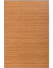 Lolahome Alfombra De Salón O Comedor Oriental Marrón De Bambú De 200 X 300 Cm Sol Naciente, 200X300