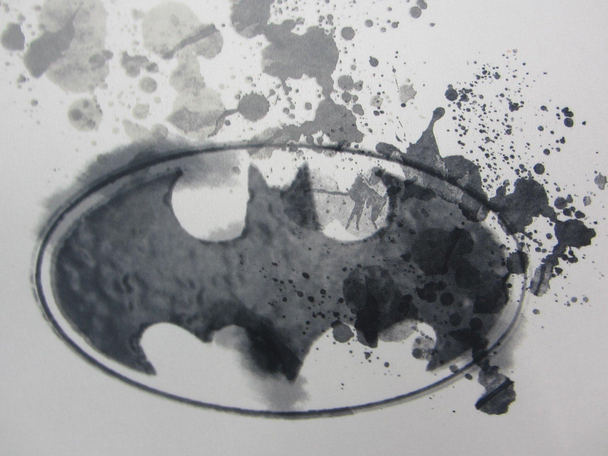 Batman Paint Splatter 100% Polyester (FLAT SHEET ONLY) Size TWIN Boys Girls Kids Bedding