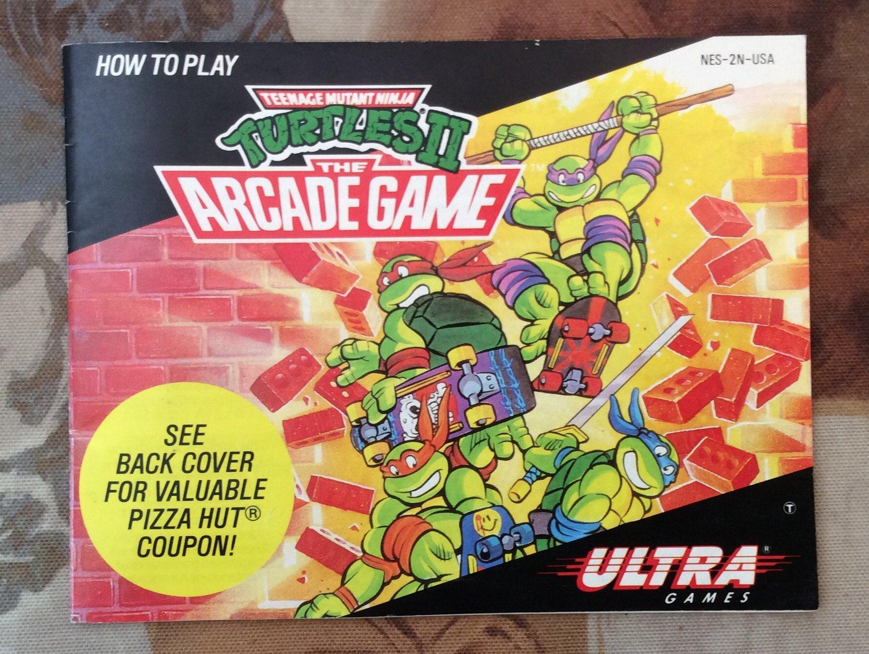 MANUAL ONLY for Teenage Mutant Ninja Turtles II -The Arcade ...