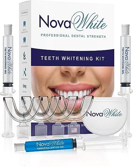 4 TRAYS 2 CASES 22/% Sensitive TEETH WHITENING BLEACH KIT for TWO 8 WHITE GEL