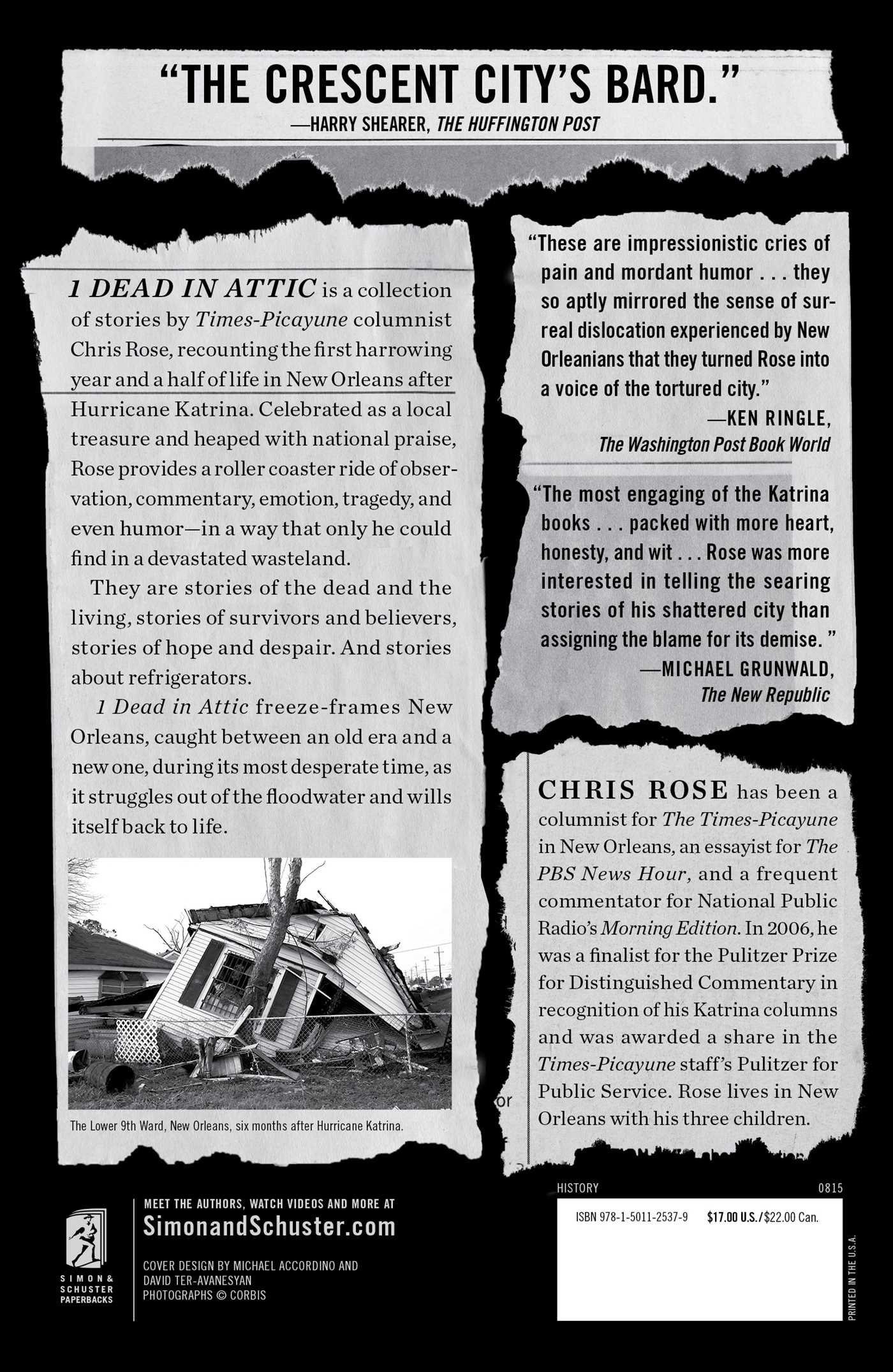 1 dead in attic after katrina chris rose 9781501125379 amazon