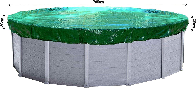 QUICK STAR Cubierta de piscina de invierno redonda 180g / m² para piscina 160 - 200 cm Dimensión de lona ø 260 cm Verde: Amazon.es: Jardín