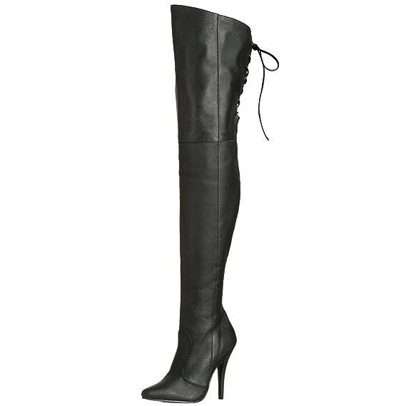 9daf0cfa6c12ea Pleaser LEGEND-8899 Blk Leather (P) UK 7 (EU 40): Amazon.co.uk ...