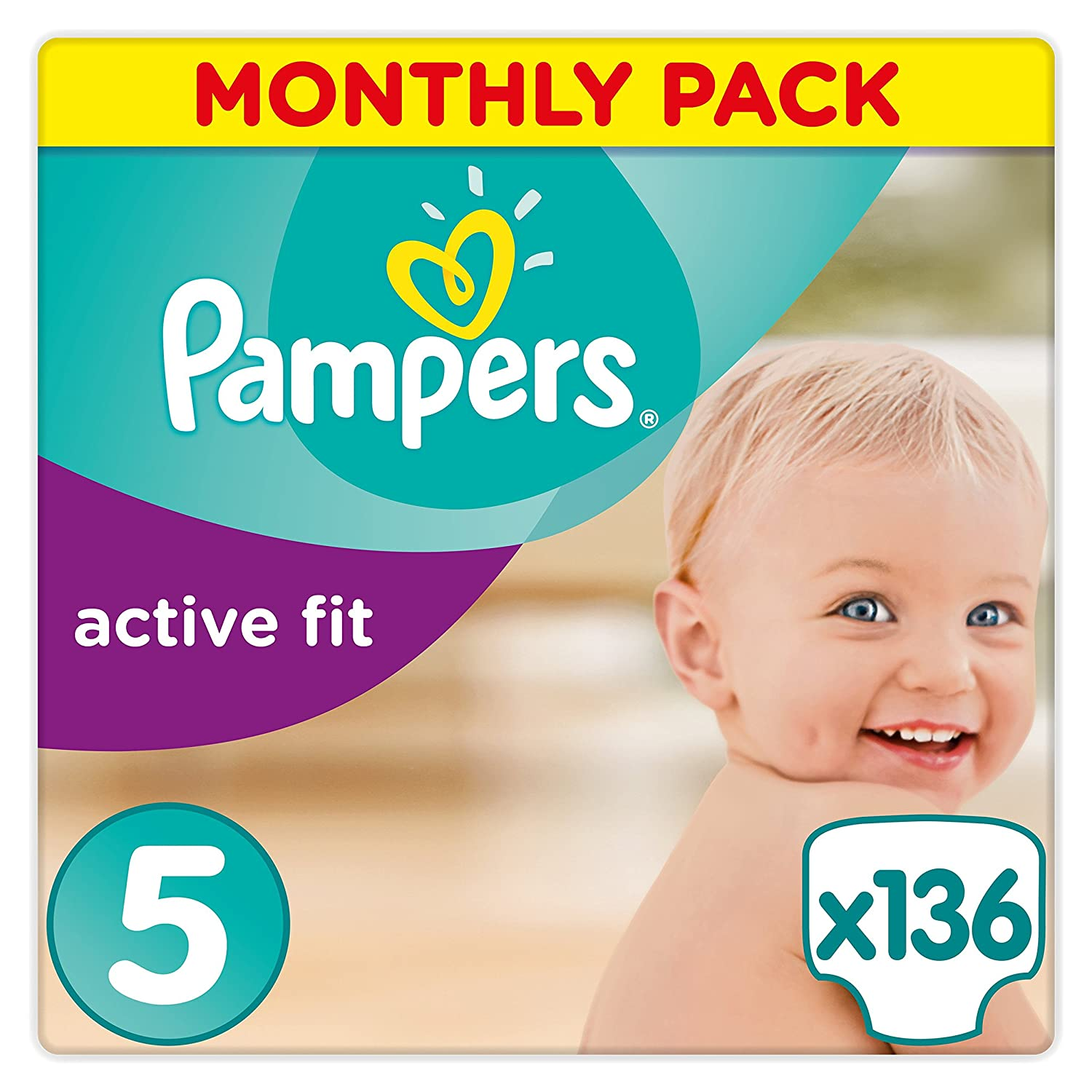 Pampers - Pañal active fit maxi 8 - 16kg (168 unidades) Procter and Gamble Spain 81395072 B00AFA4DHQ