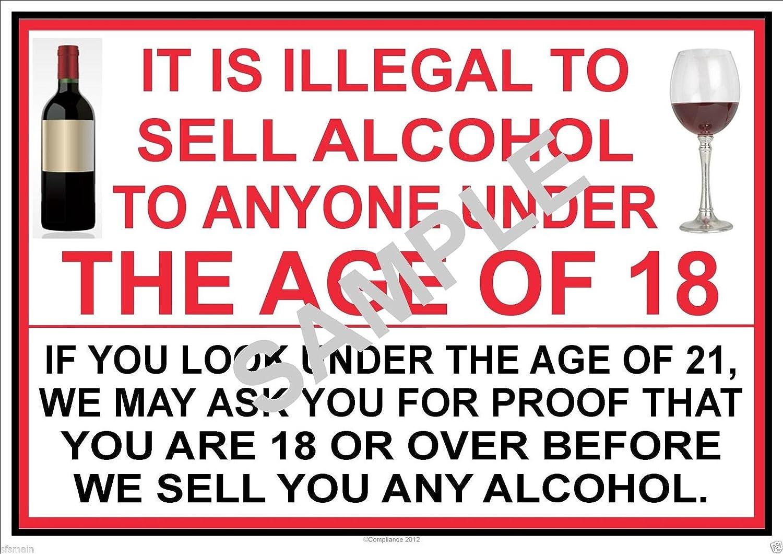 ES ilegal a vender Alcohol a menores de 18 - Póster de ...