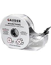 GAUDER Magnetband selbstklebend im Spender I Magnet I Magnetklebeband I Magnetstreifen I Schule I Magnetband-abroller