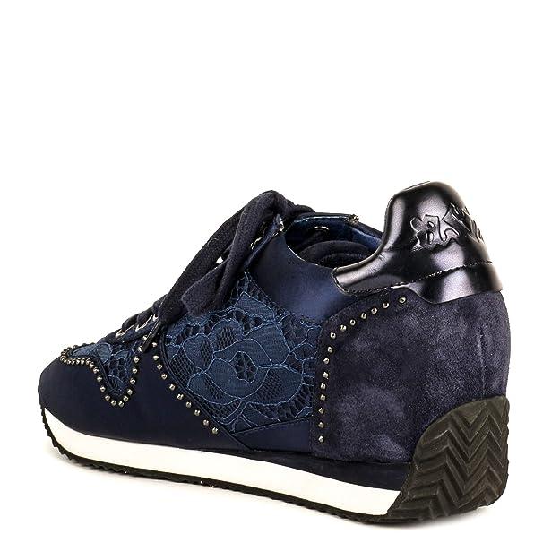 f7a73cf035c Ash Zapatos Blush Zapatillas de Cuña Azul Marino Mujer 41 Azul Marino   Amazon.es  Zapatos y complementos