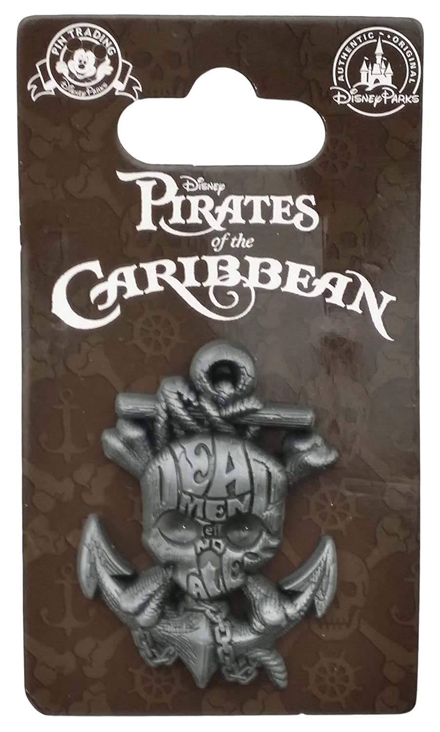 Disney Pin - Pirates of the Caribbean - Ships Anchor with skull