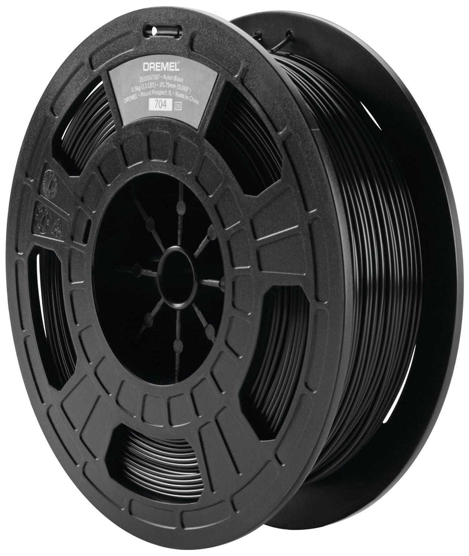 Black Dremel 3D Printing DF45-NYP-B 1.75 mm Diameter Dremel Nylon 3D Printer Filament