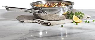 product image for Wolf Gourmet 2 Quart Saucier with Lid, Stainless Steel (WGCW152S)