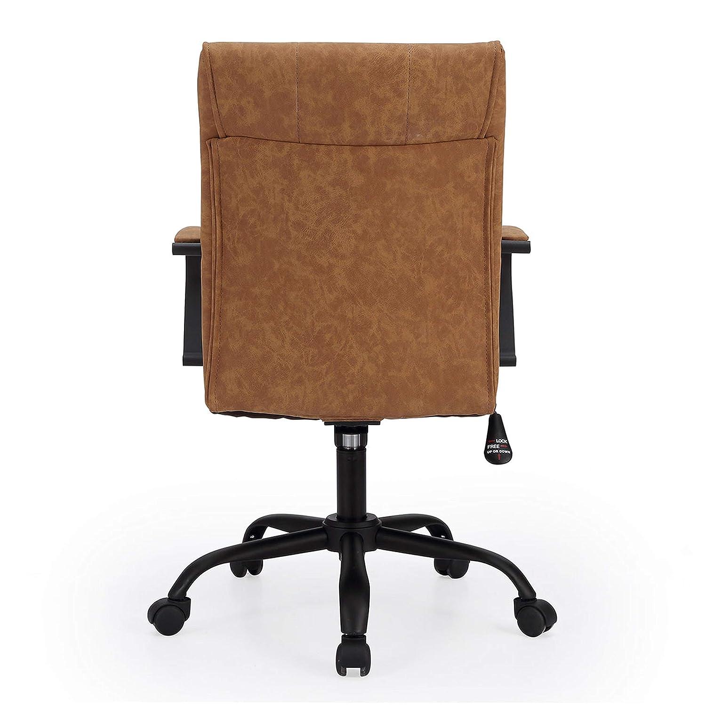 Adec - Colonial, Silla de oficina, sillon de despacho acabado en similpiel color Negro, medidas: 66 x 93-107 cm de alto: Amazon.es: Hogar
