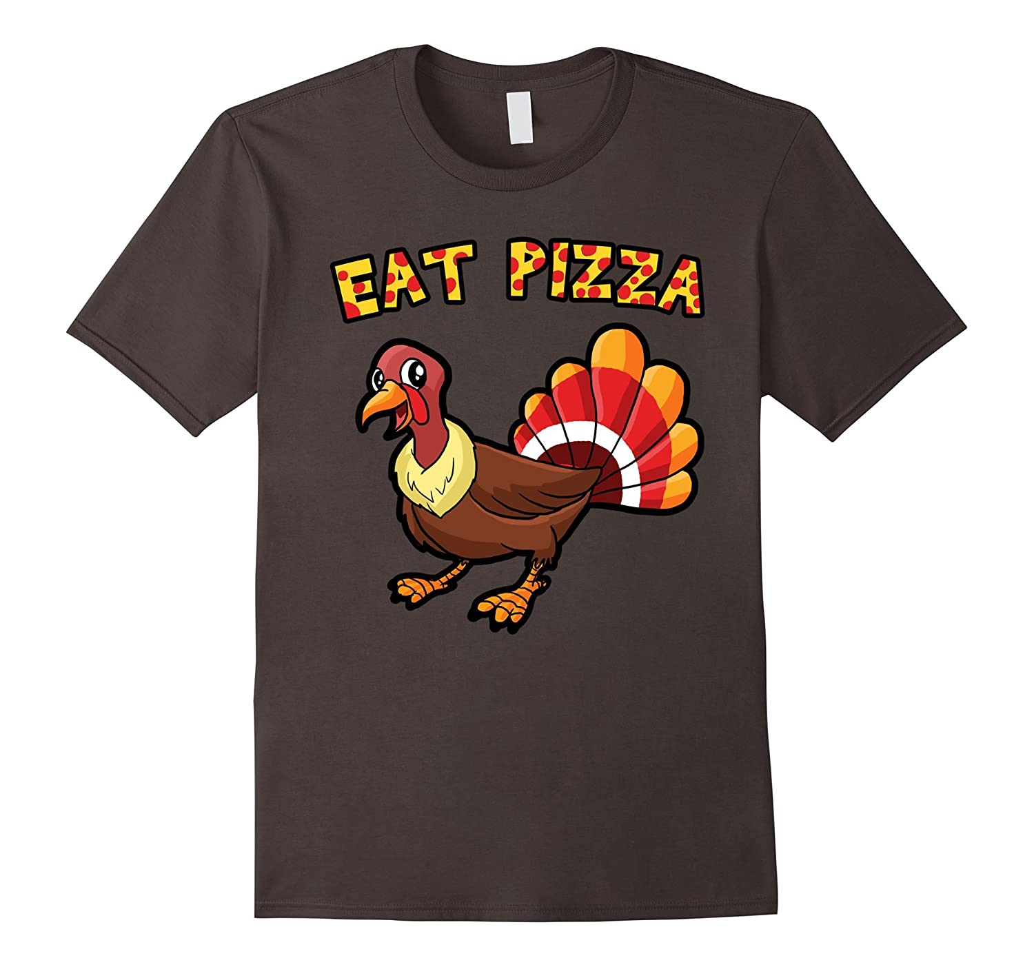 Eat Pizza Thanksgiving Shirt with Turkey-ANZ