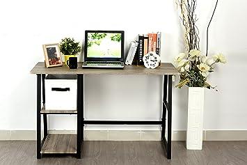 Amazoncom Weathered Grey Oak Computer Writing Study Trestle Desk