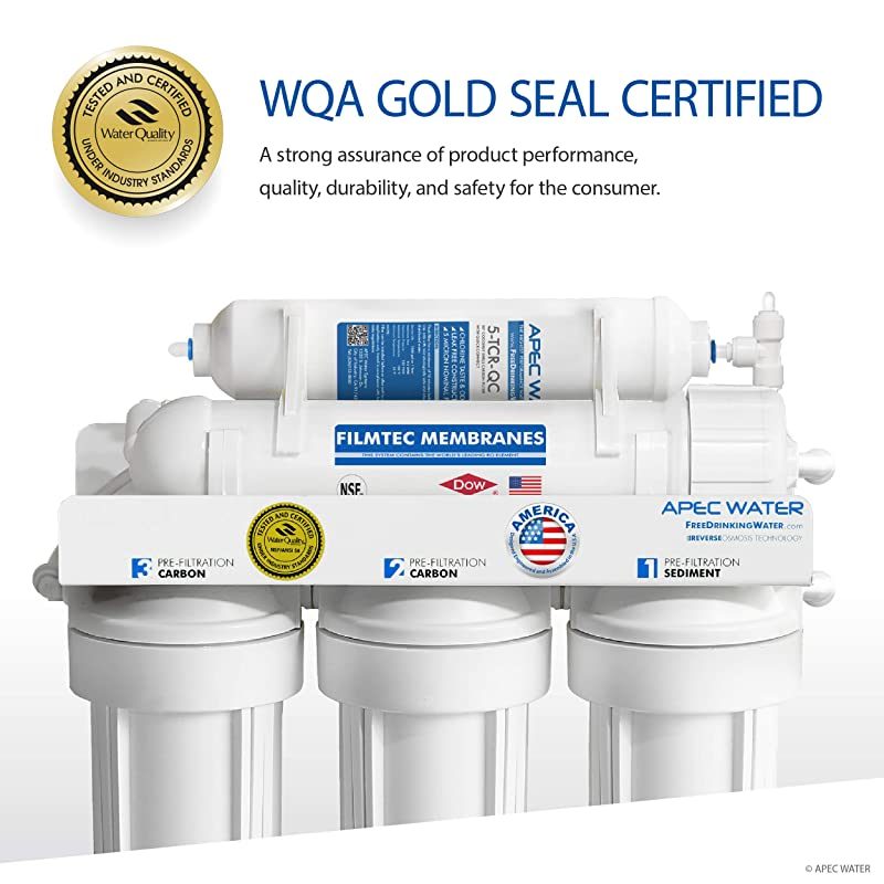 APEC Water RO 90 Filter - Reverse Osmosis System - WQA Gold seal Certified
