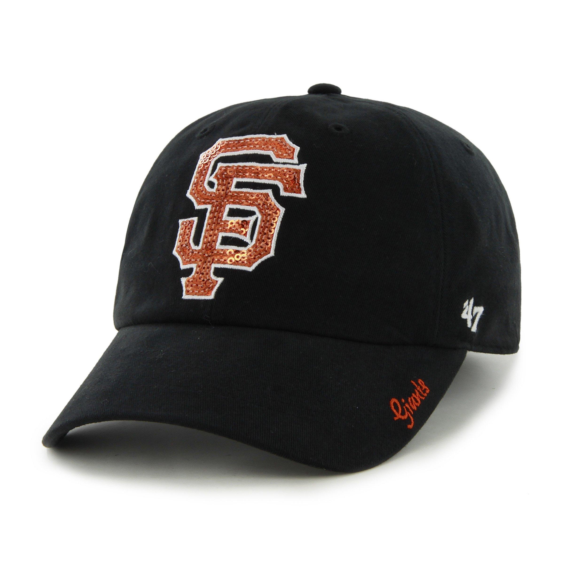 MLB San Francisco Giants Women's Sparkle Team Color Cap, One-Size, Black