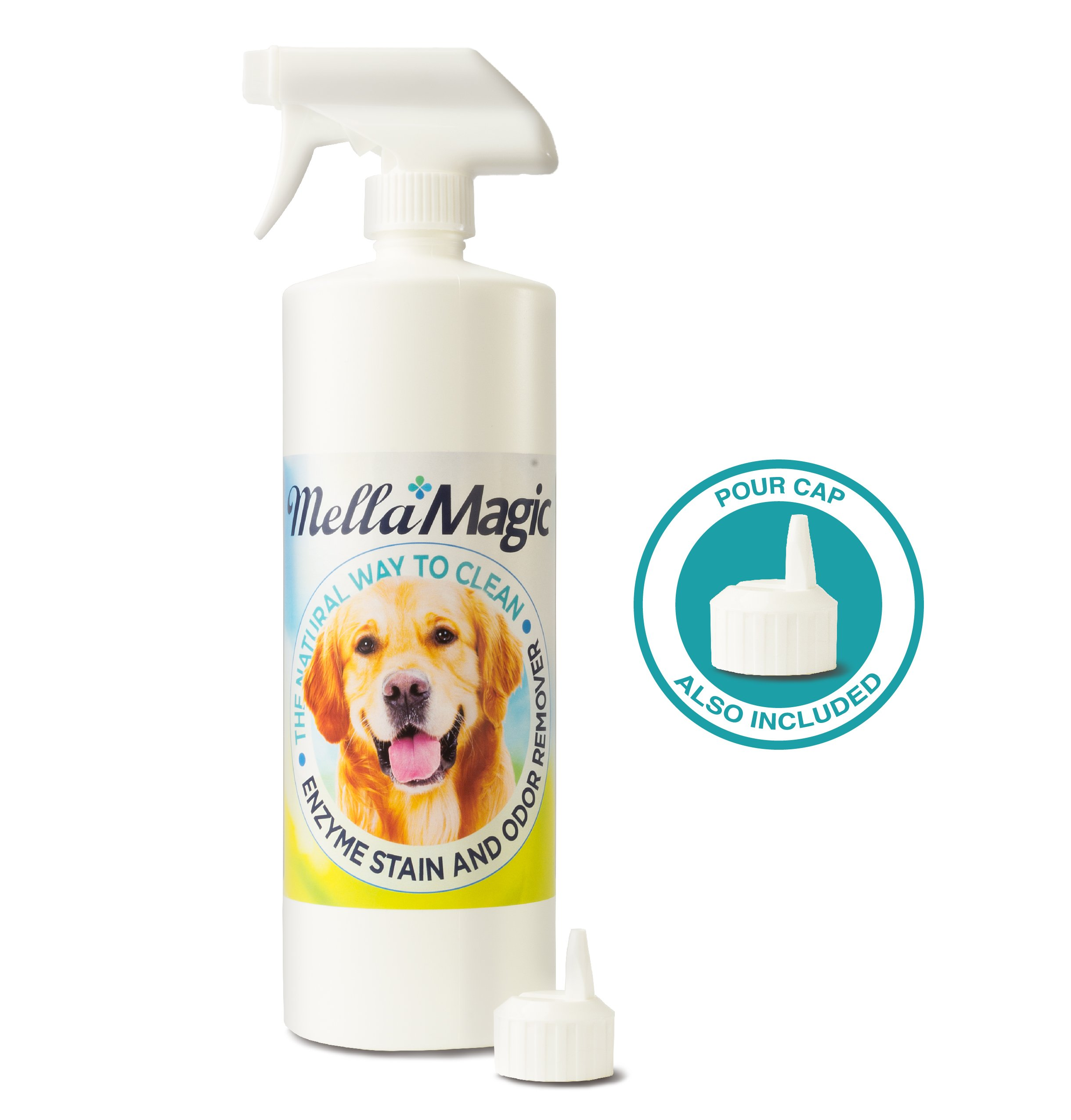 Mella Magic Enzyme Pet Stain & Odor Remover with FREE How-To Video (32 oz)