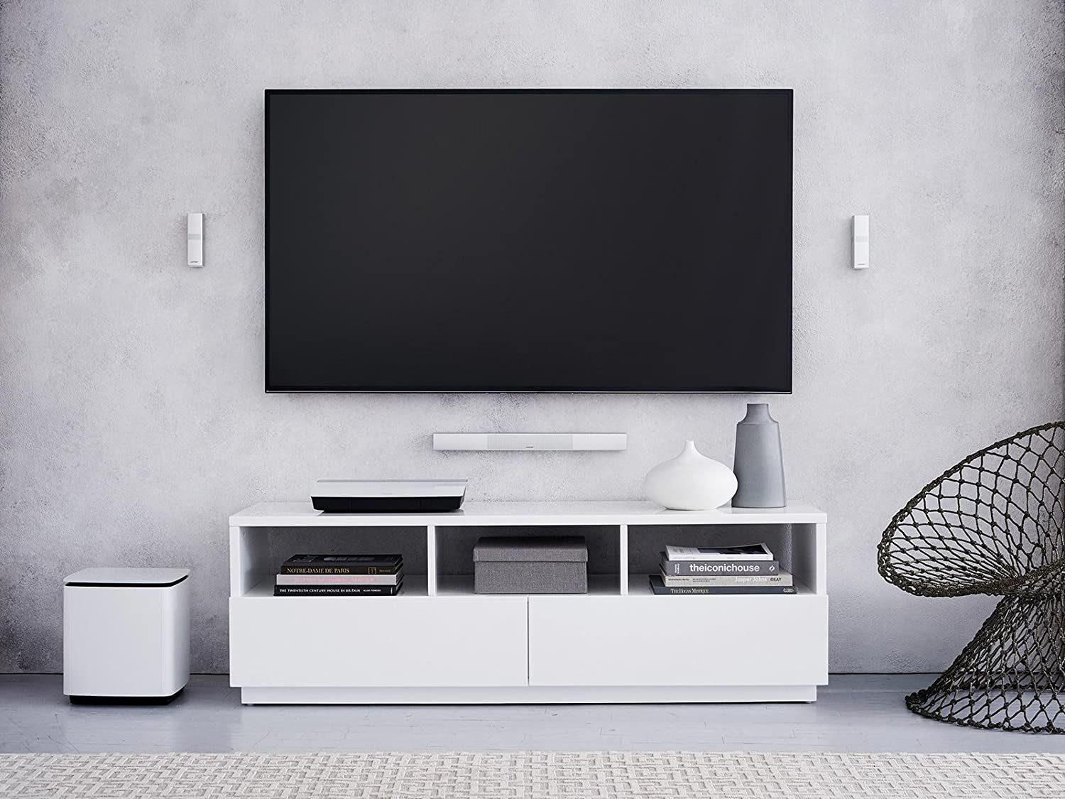 Additional Acoustimass 300 Wireless Bass Module White Bose LifeStyle 650 Home Entertainment System