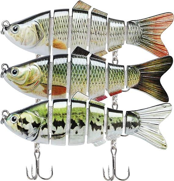 TRUSCEND Señuelos Articulados para Pesca 10cm Pez Nadador Swimbait ...