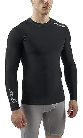 Sub Sports Cold sous-vêtement Thermique Homme Haut de Compression Manches  Longues - Noir d58b957db229
