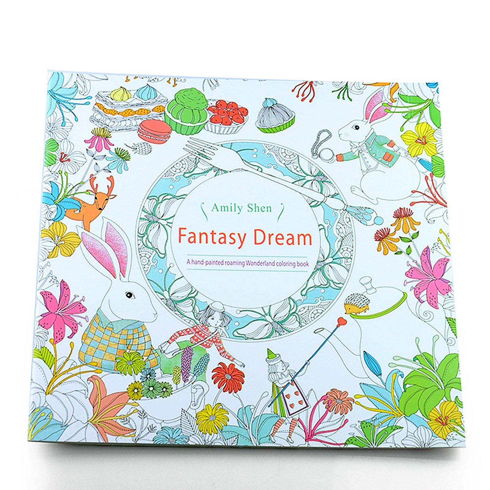 Fantasy Dream Coloring Book ABC Hair 0799619283576 Amazon Books