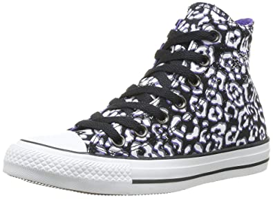7eded5a63b77 Converse Womens Chuck Taylor Animal Print Black/Nightshade Sneaker - 5